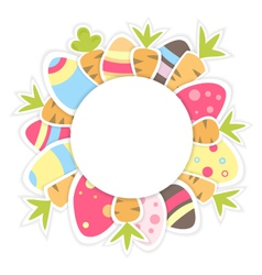 Easter carrots pattern on a white vector image vector image