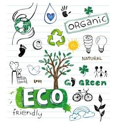 Eco friendly Doodles vector image