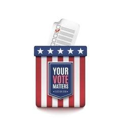 Election ballot box vector image vector image