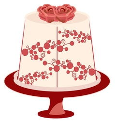 Floral Cake vector image