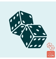 Game dices icon vector image
