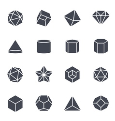 Geometric shapes icon vector