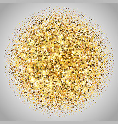 Gold glitter texture golden sparcle on vector
