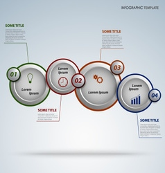 Info graphic with round design pointers template vector image vector image