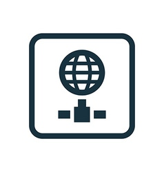 internet icon Rounded squares button vector image