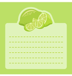 Lime Memo Notes vector image vector image