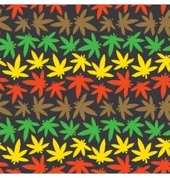 Marihuana ganja weed seamless pattern rasta vector image