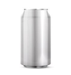 Metal aluminum beverage drink can vector