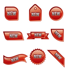 new advertising glossy banners vector image vector image
