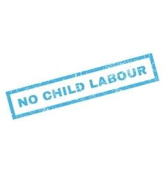 No child labour rubber stamp vector