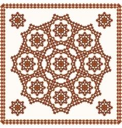 Oriental ornament on shawl vector