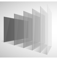 Perspective transparent gray abstract rectangles vector image