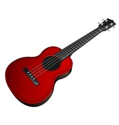 red ukulele vector image vector image