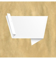 Retro Paper With White Origami vector image vector image
