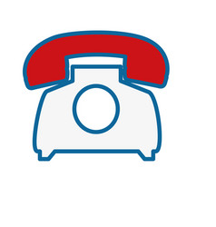 Retro phone icon vector