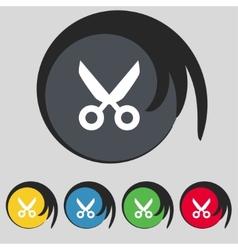 Scissors hairdresser sign icon Tailor symbol Set vector image