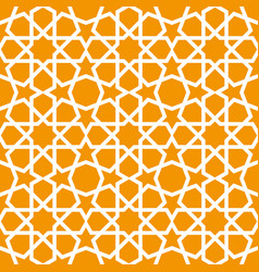 seamless ornamental pattern in arabic style vector image vector image
