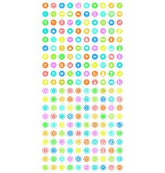 Set of 200 tool icons vector