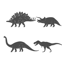 Set of dinosaurs isolated on white background vector