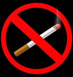 Sign prohibiting smoking vector