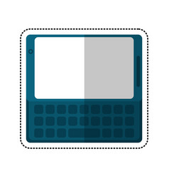 Smartphone mobile technology keyboard shadow vector
