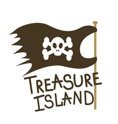 Treasure island flag vector