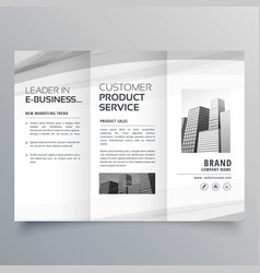 Trifold brochure design template for your business vector