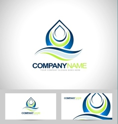 Water drop logo design vector