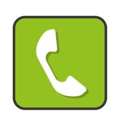 Phone telephone app isolated icon vector