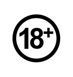18 icon vector image