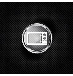 Microwave icon kitchen equipment vector