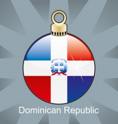 Dominican flag on bulb vector image
