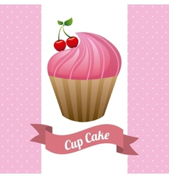 cupcake poster vector image