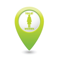 Toilet green map pointer vector