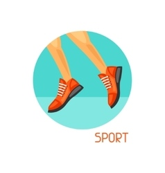 Sports and healthy lifestyle concept image can be vector