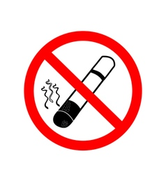 No smoking sign on white background vector