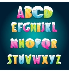 Ice age alphabet vector image