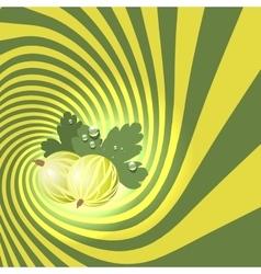 Striped spiral goosberry patisserie background vector
