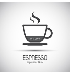 Cup of espresso simple icons vector