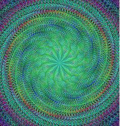 Abstract spiral fractal design background vector