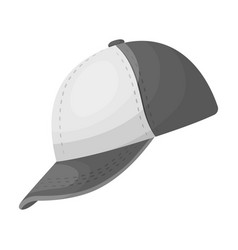 Baseball cap baseball single icon in monochrome vector