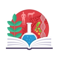 Biology emblem vector