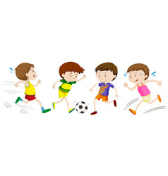 boys playing different sport vector image vector image