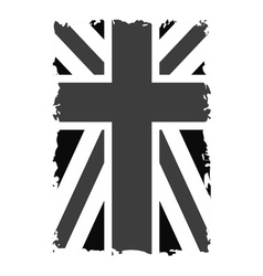 British flag t shirt graphics black vector