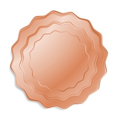 bronze medal that can be used as a seal the price vector image vector image