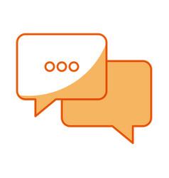 Bubble speech chat message image vector