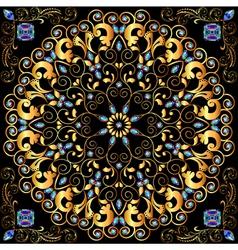Circular gold ornaments vector