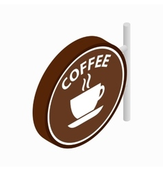 Coffee signboard icon isometric 3d style vector