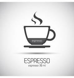 Cup of espresso simple icons vector image vector image