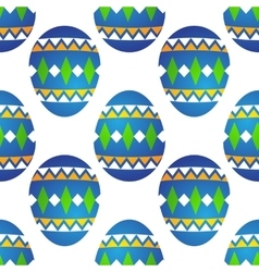 easter eggs seamless vector image